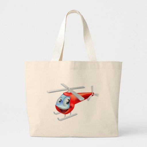 Personagem de desenho animado do helicóptero bolsa para compra