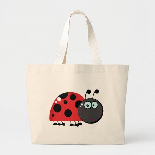 Personagem de desenho animado do joaninha bolsas de lona