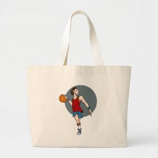 Personagem de desenho animado do jogador de sacola tote jumbo