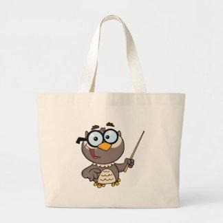 Personagem de desenho animado do professor da coru sacola tote jumbo