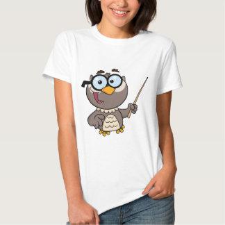 Personagem de desenho animado do professor da tshirt