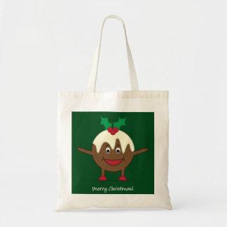 Personagem de desenho animado do pudim do Natal Bolsa Tote