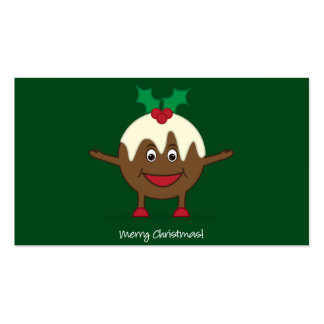 Personagem de desenho animado do pudim do Natal Cartão De Visita