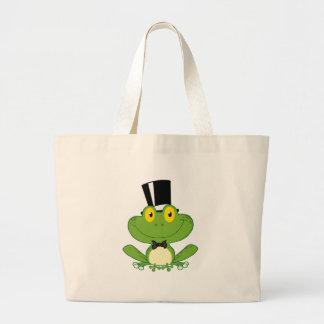 Personagem de desenho animado do sapo do noivo bolsas para compras