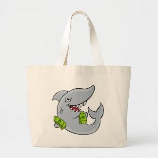 Personagem de desenho animado do tubarão de sacola tote jumbo