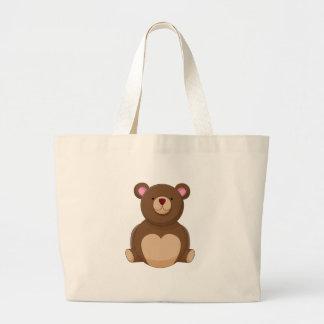 Personagem de desenho animado do urso de ursinho sacola tote jumbo