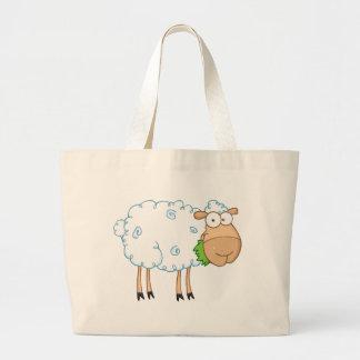 Personagem de desenho animado dos carneiros branco bolsas