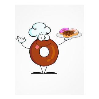 personagem de desenho animado engraçado do cozinhe panfletos