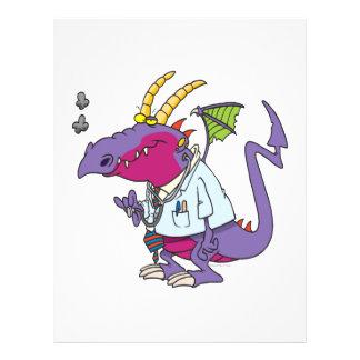 personagem de desenho animado engraçado do dragão  panfletos coloridos