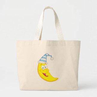 Personagem de desenho animado feliz da mascote da  bolsa de lona
