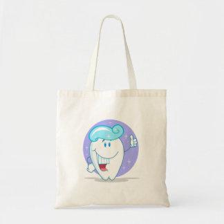personagem de desenho animado limpo feliz bonito bolsa tote