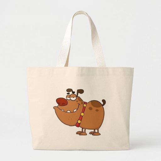 Personagem de desenho animado preguiçoso do cão bolsas