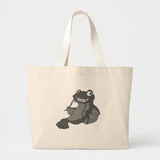 Personagem de desenho animado (preto e branco) do bolsa para compras