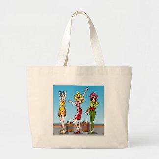 Personagens de desenho animados das meninas da sacola tote jumbo