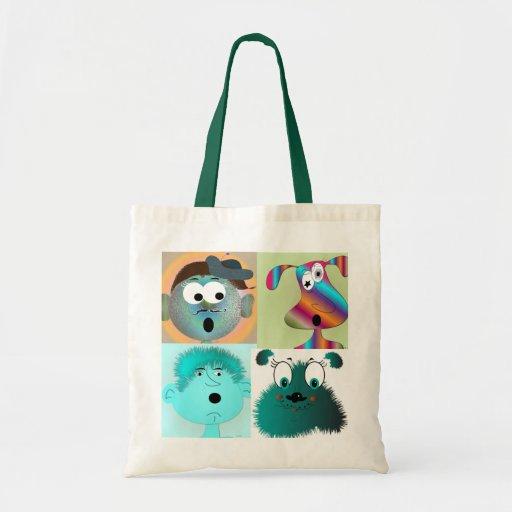 Personagens de desenho animados do bolsa