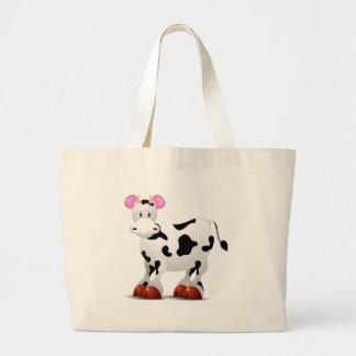 Personagens de desenho animados felizes bonitos da sacola tote jumbo