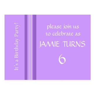 Personaliza convites de festas de aniversários