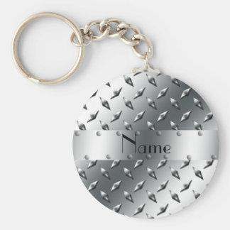 Personalizado com seu aço conhecido da placa do di chaveiro