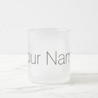 Personalizado com seu impressão conhecido caneca de café vidro jateado