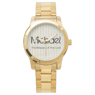 Personalizado do nome abençoado do senhor relógio de pulso