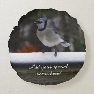 Personalizado em volta do travesseiro do pássaro almofada redonda