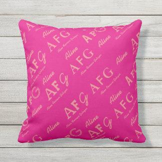 personalizado. feminino cor-de-rosa conhecido almofada