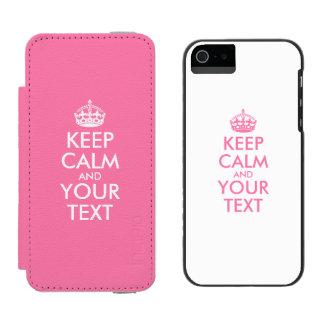 Personalizado MANTENHA A CALMA e o SEU pink&white