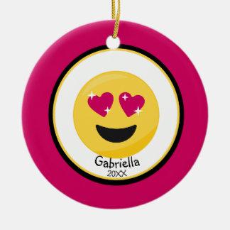 Personalizado ouça o ornamento de Emoji do amor