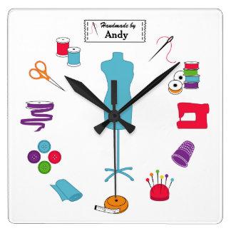 Personalize a etiqueta Sew certo Relógios Para Paredes