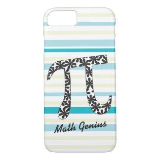 Personalize a matemática listrada Pi floral Capa iPhone 8/ 7