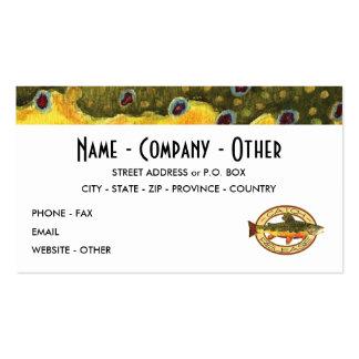 Personalize a pesca da truta cartão de visita