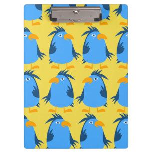 Personalize a prancheta azul bonito do pássaro
