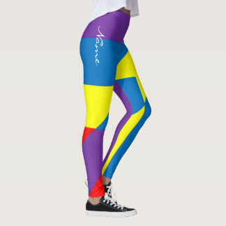 "+ Personalize as caneleiras ""geométricas"" loucas Leggings"