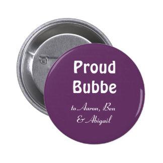 Personalize!  Bubbe orgulhoso Bóton Redondo 5.08cm