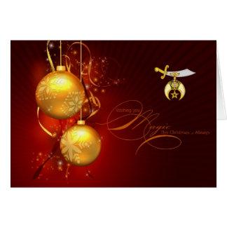Personalize cartões de natal do emblema de Shriner