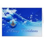 Personalize cartões de natal maçónicos