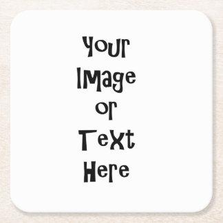 Personalize com imagens e texto personalizados porta-copo de papel quadrado
