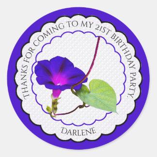 Personalize:  Corriola floral da fotografia Adesivo Redondo