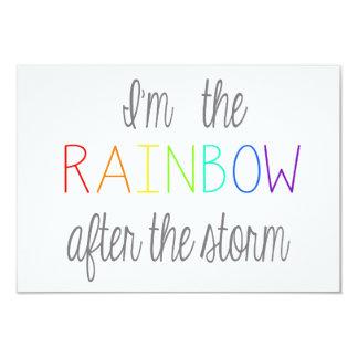 *Personalize* do cartão do bebê do arco-íris