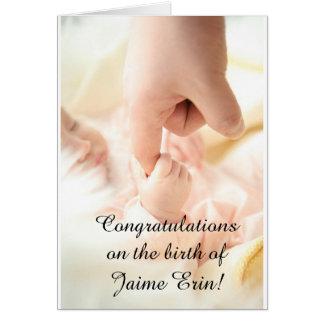"""Personalize este """"Congrats cartão no bebê novo""""!"""