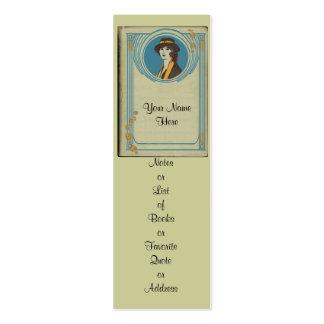 Personalize este marcador e entregue-o para fora! cartão de visita skinny