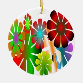 Personalize este ornamento de flower power