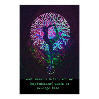 Personalize este poster - árvore da ioga