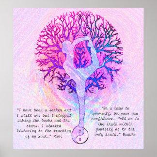 Personalize este poster - ioga cor-de-rosa Yin Pôster