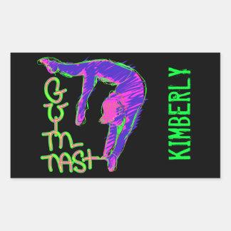 Personalize etiquetas personalizadas da ginástica