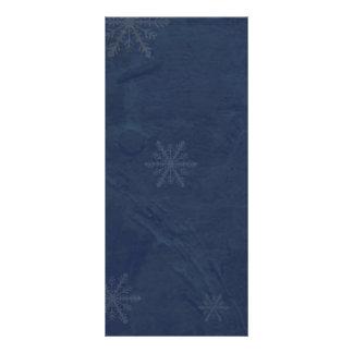PERSONALIZE - flocos de neve 4 - azul escuro origi Panfleto Informativo