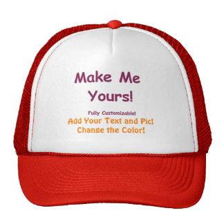 Personalize-me chapéus feitos sob encomenda boné