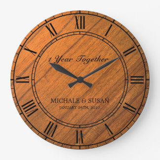 Personalize o aniversário de casamento (o fundo de relógios de paredes