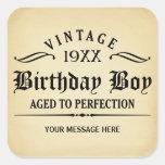 Personalize o aniversário engraçado adesivos quadrados
