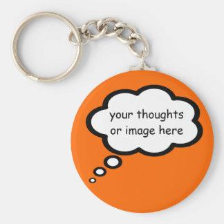 personalize o balão dos desenhos animados do chaveiro
